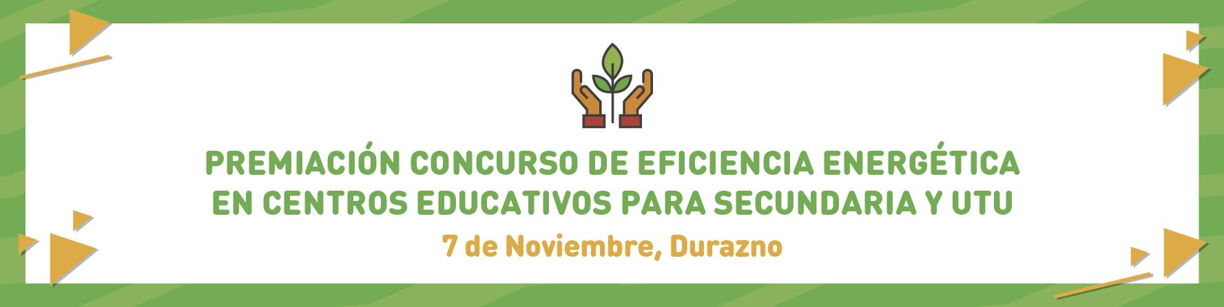 Entrega de premios Concurso de Eficiencia Energética en UTU y Secundaria 2019