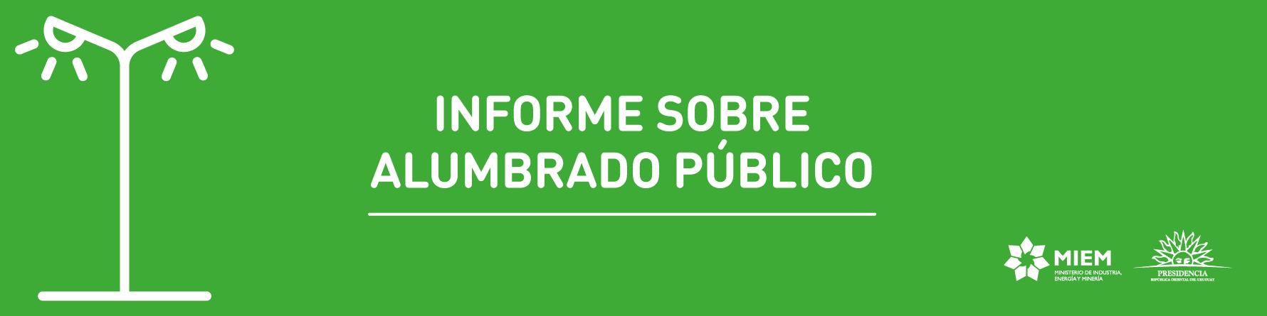 Informe alumbrado público 2018