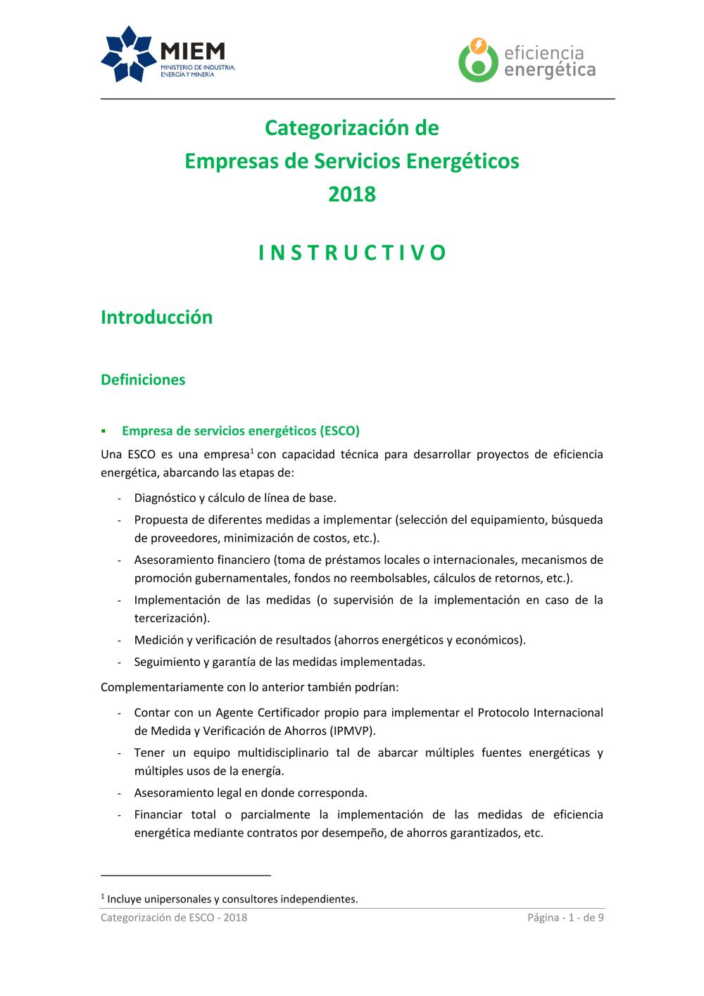 Dne Eficiencia Energetica 0 Instructivo Categorización